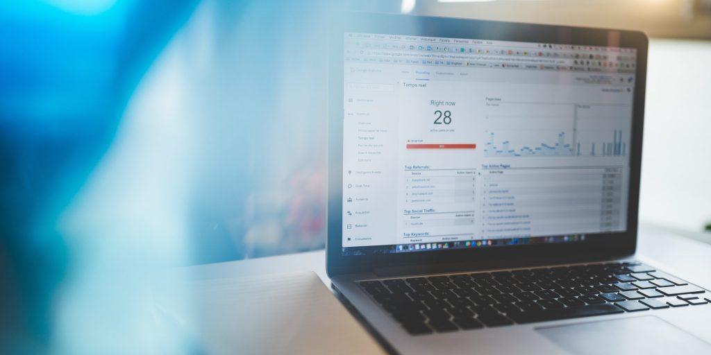 Blog traffic on laptop
